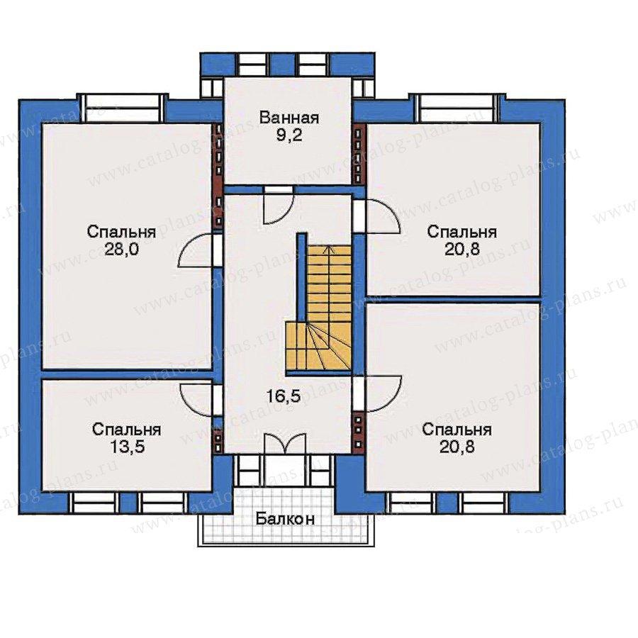 План 3-этажа проекта 32-36