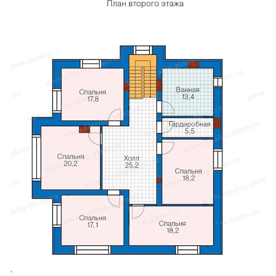 План 2-этажа проекта 40-21G