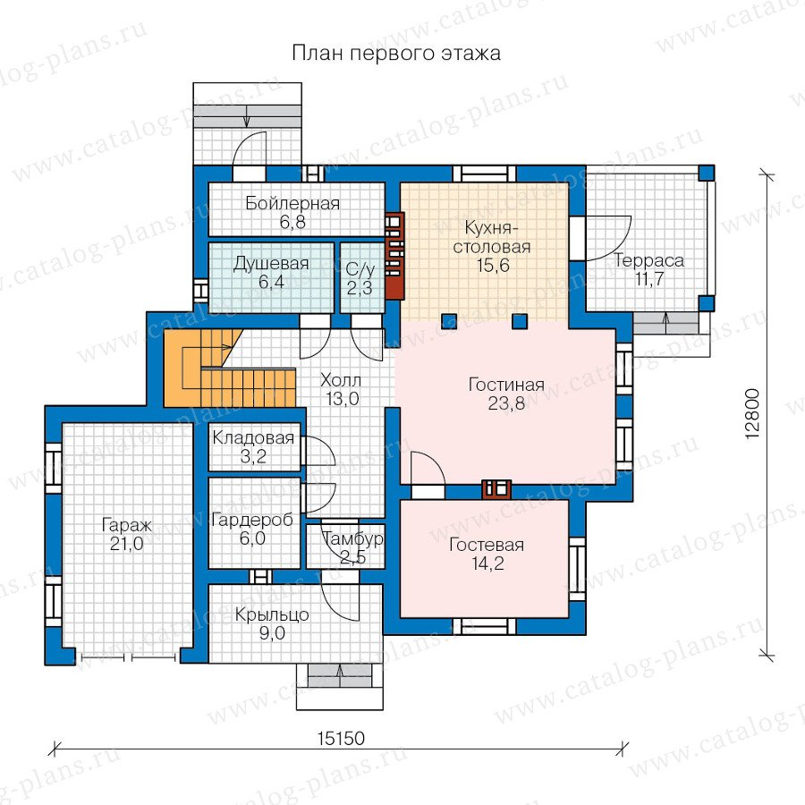 План 1-этажа проекта 57-00AK