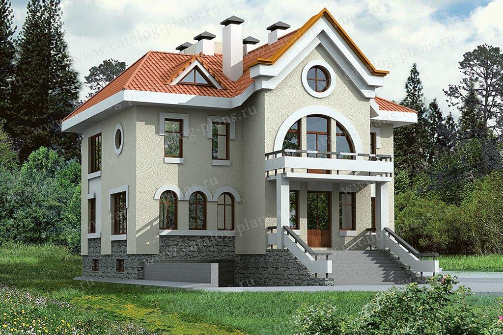 Проект жилой дом #32-48 материал - кирпич, стиль модерн