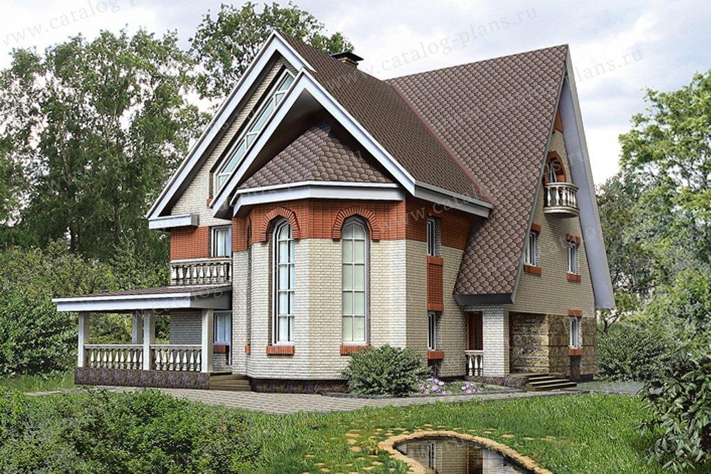 Проект жилой дом #32-91 материал - кирпич, стиль американский