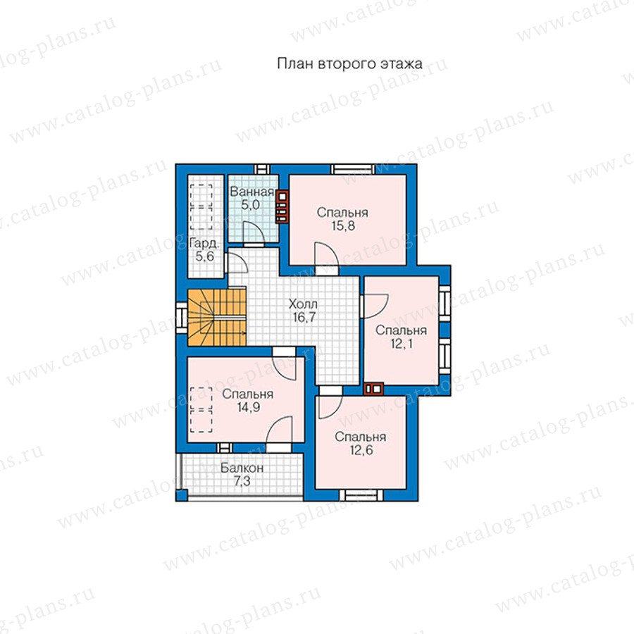 План 2-этажа проекта 57-00BK