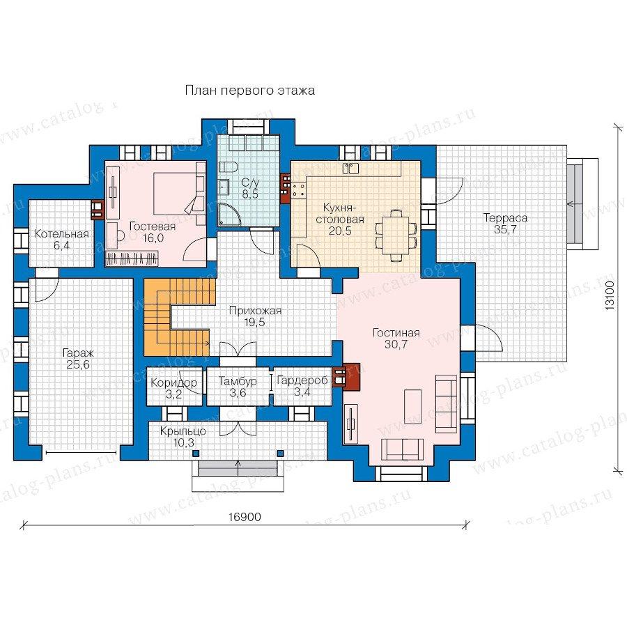 План 1-этажа проекта 58-10L