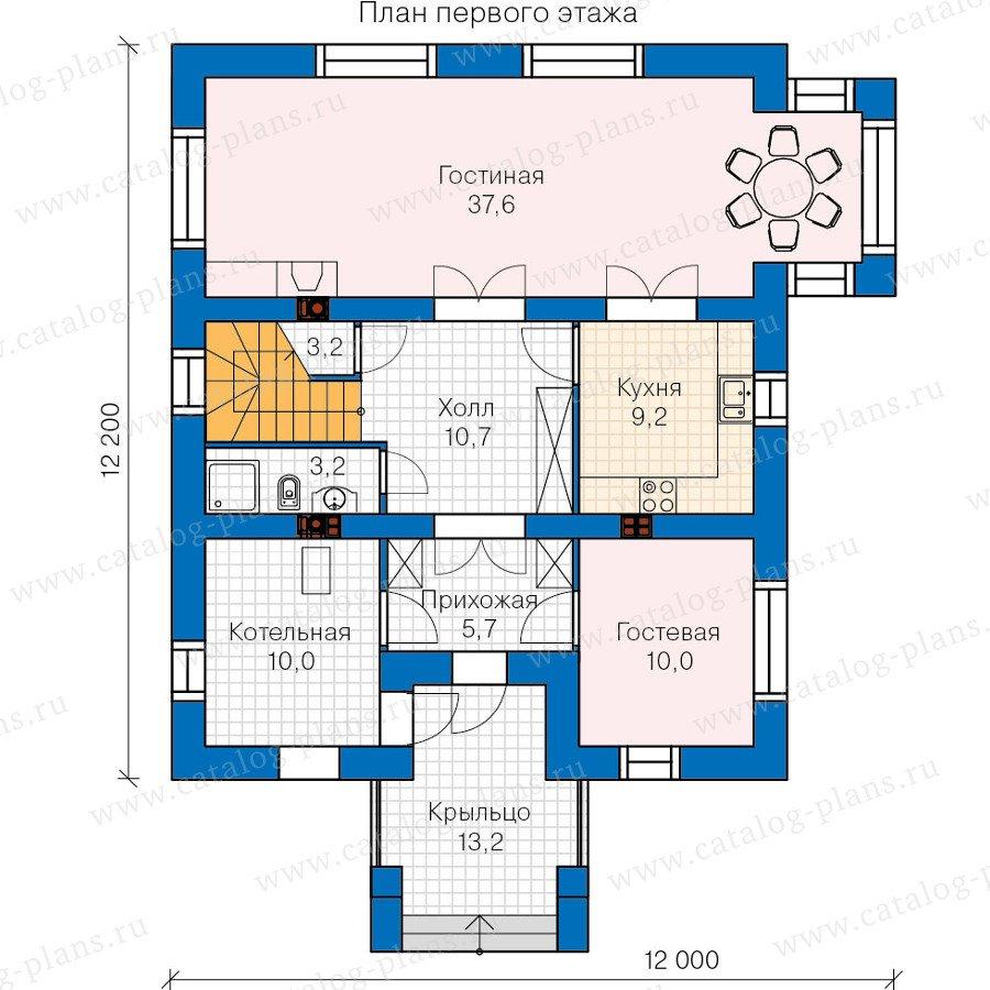 План 1-этажа проекта 60-08