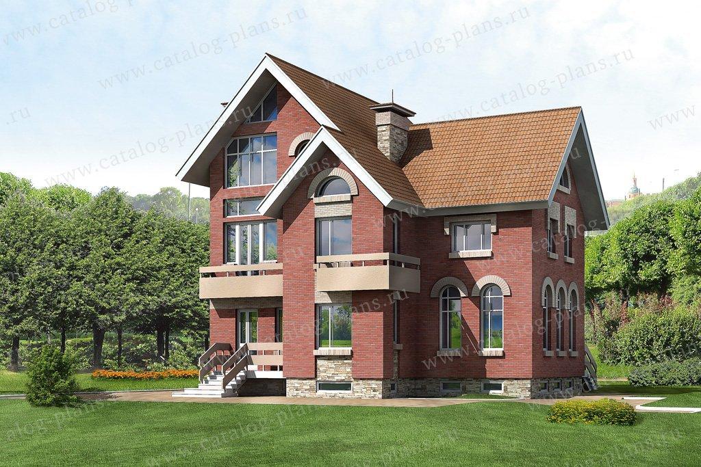 Проект жилой дом #32-78 материал - кирпич, стиль европейский