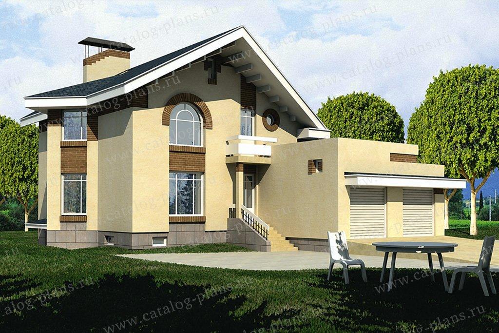 Проект жилой дом #32-58 материал - кирпич, стиль современный
