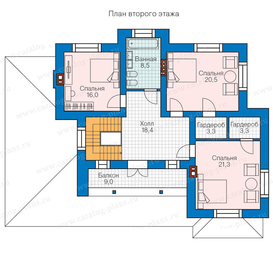 План 2-этажа проекта 58-10L