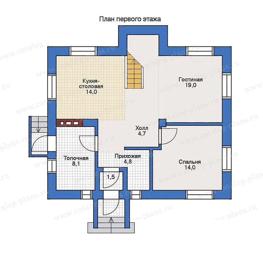 План 1-этажа проекта 32-32