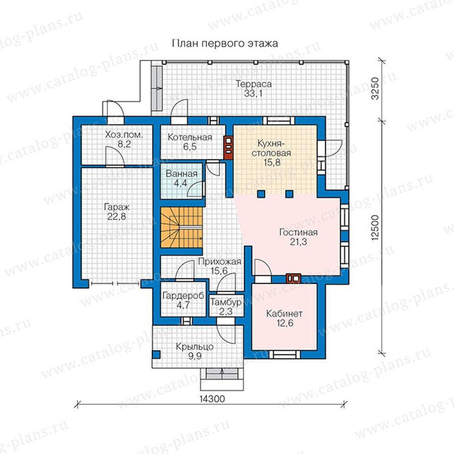 План 1-этажа проекта 57-00BK