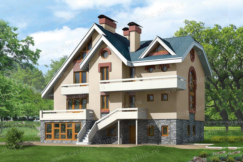 Проект жилой дом #32-81 материал - кирпич, стиль европейский