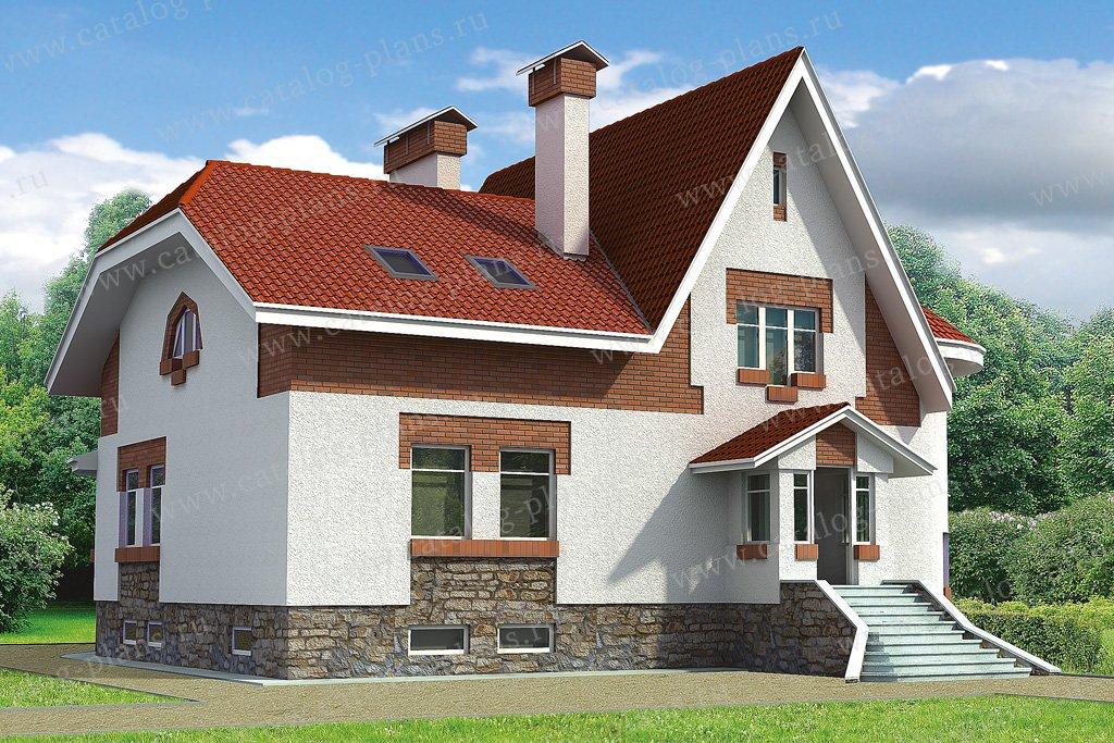 Проект жилой дом #32-85 материал - кирпич, стиль европейский