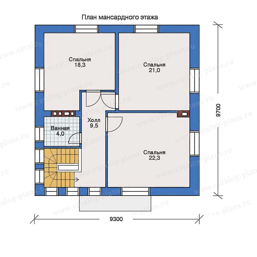 План 2-этажа проекта 32-37