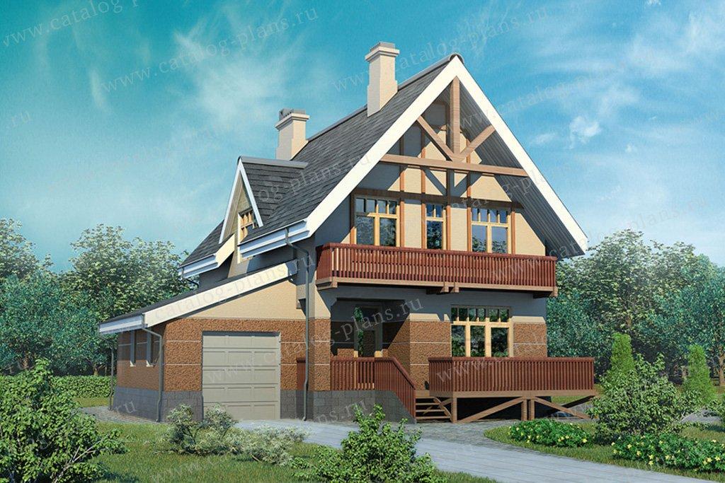 Проект жилой дом #32-68 материал - кирпич, стиль европейский