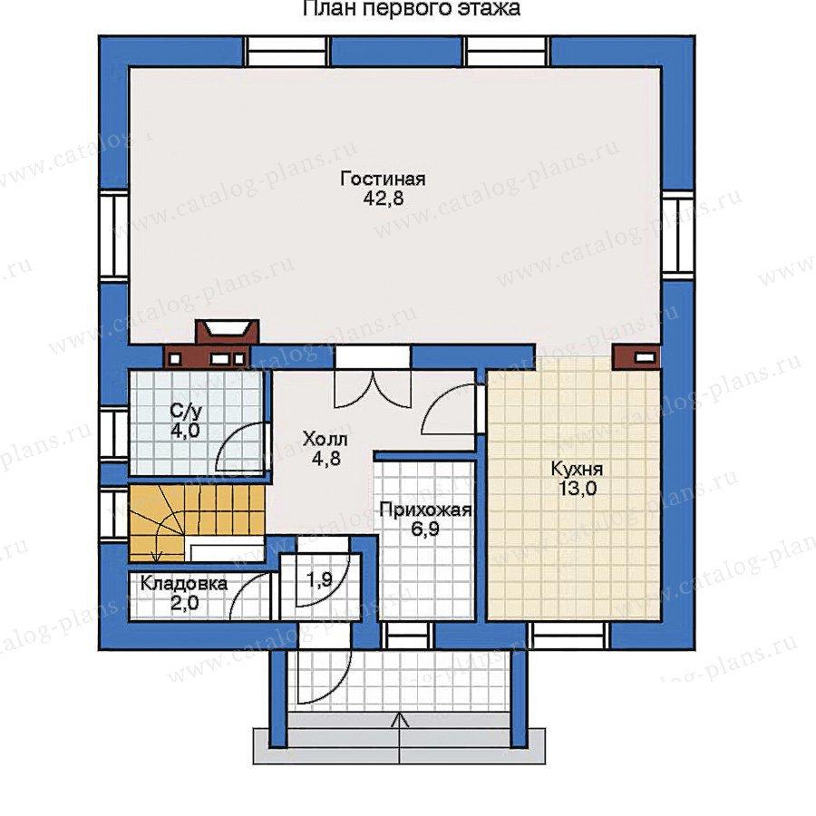 План 1-этажа проекта 32-37