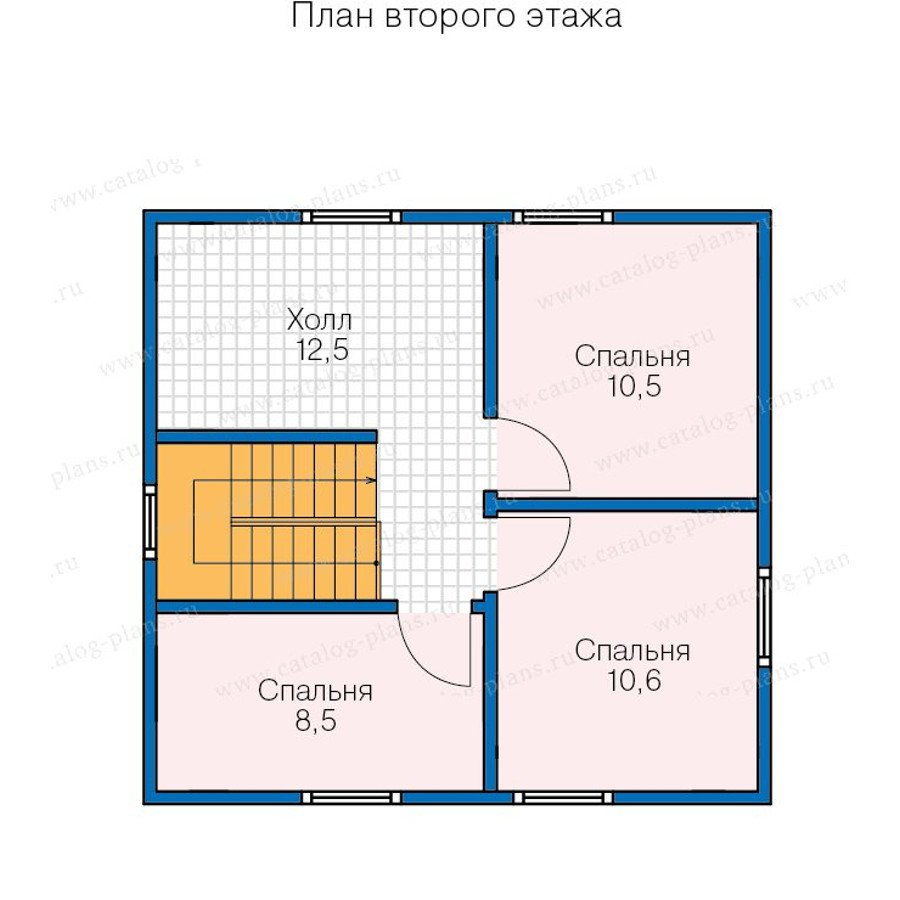 План 2-этажа проекта 13-42
