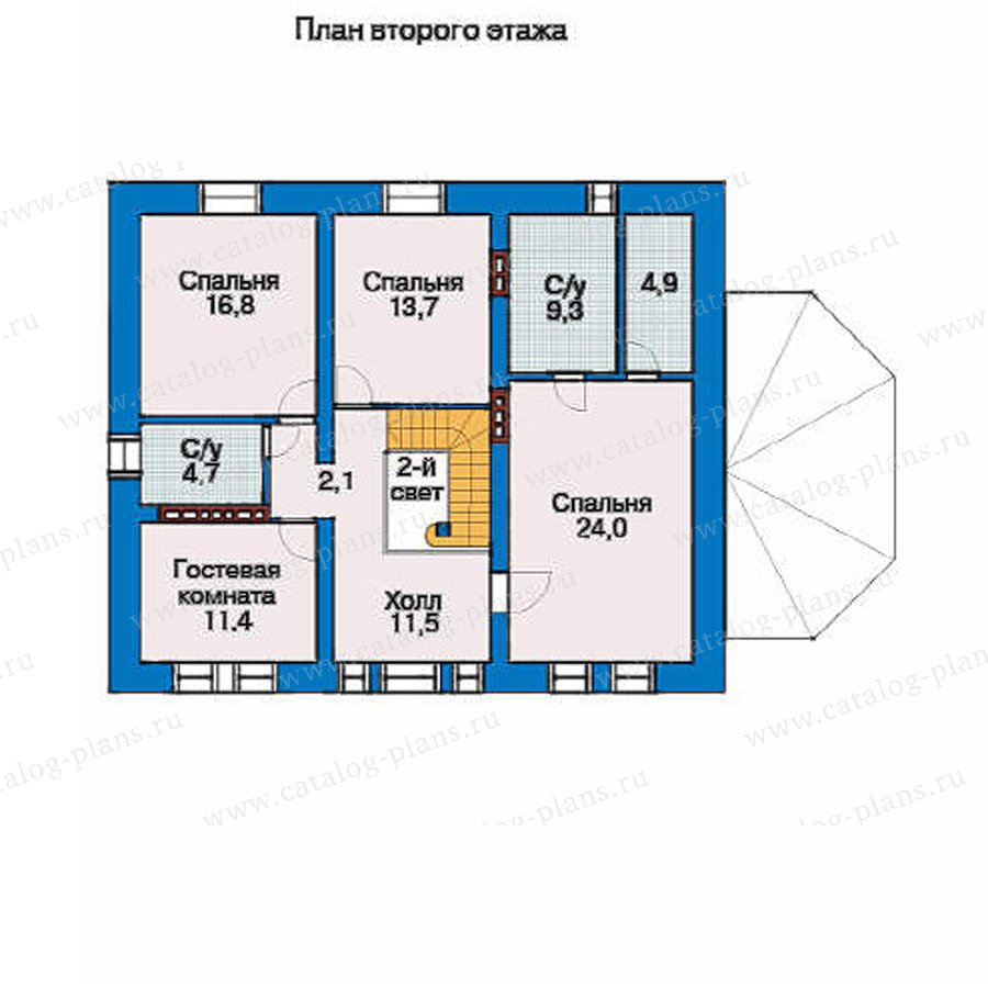 План 3-этажа проекта 32-67