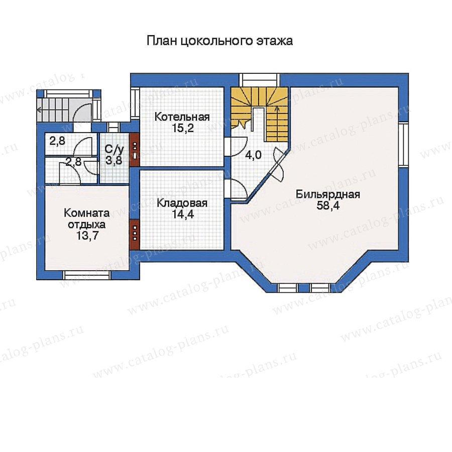 План 1-этажа проекта 32-53