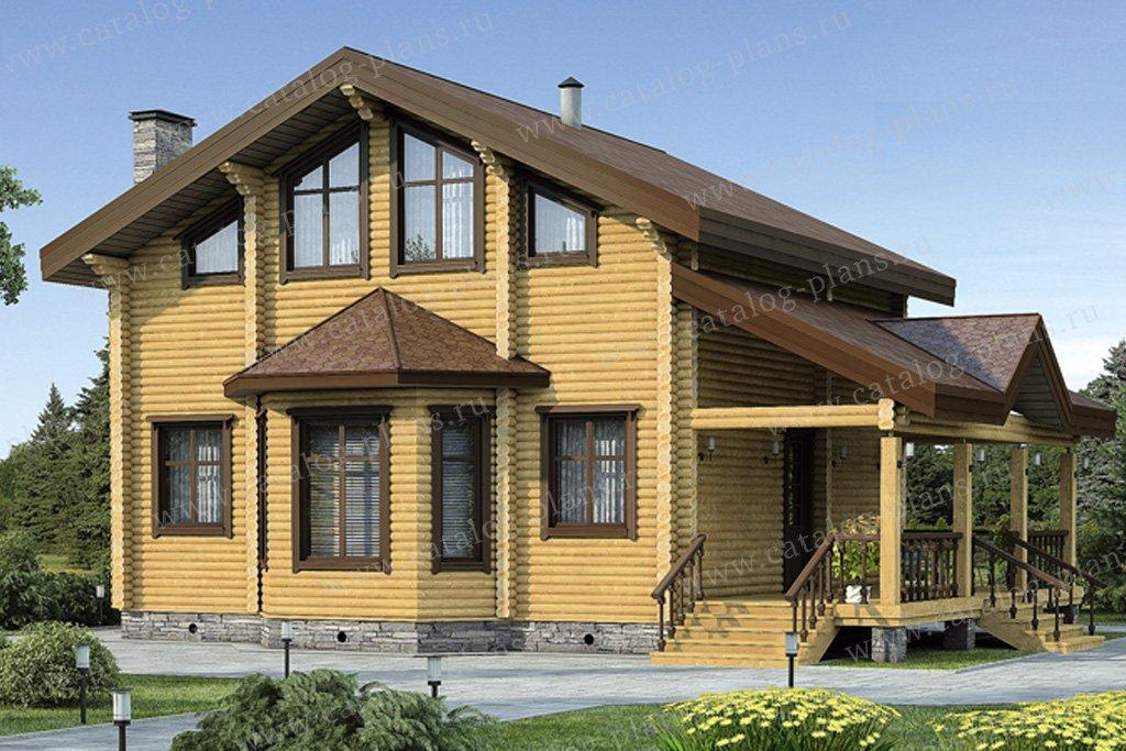 Проект жилой дом #12-12 материал - дерево, стиль скандинавский