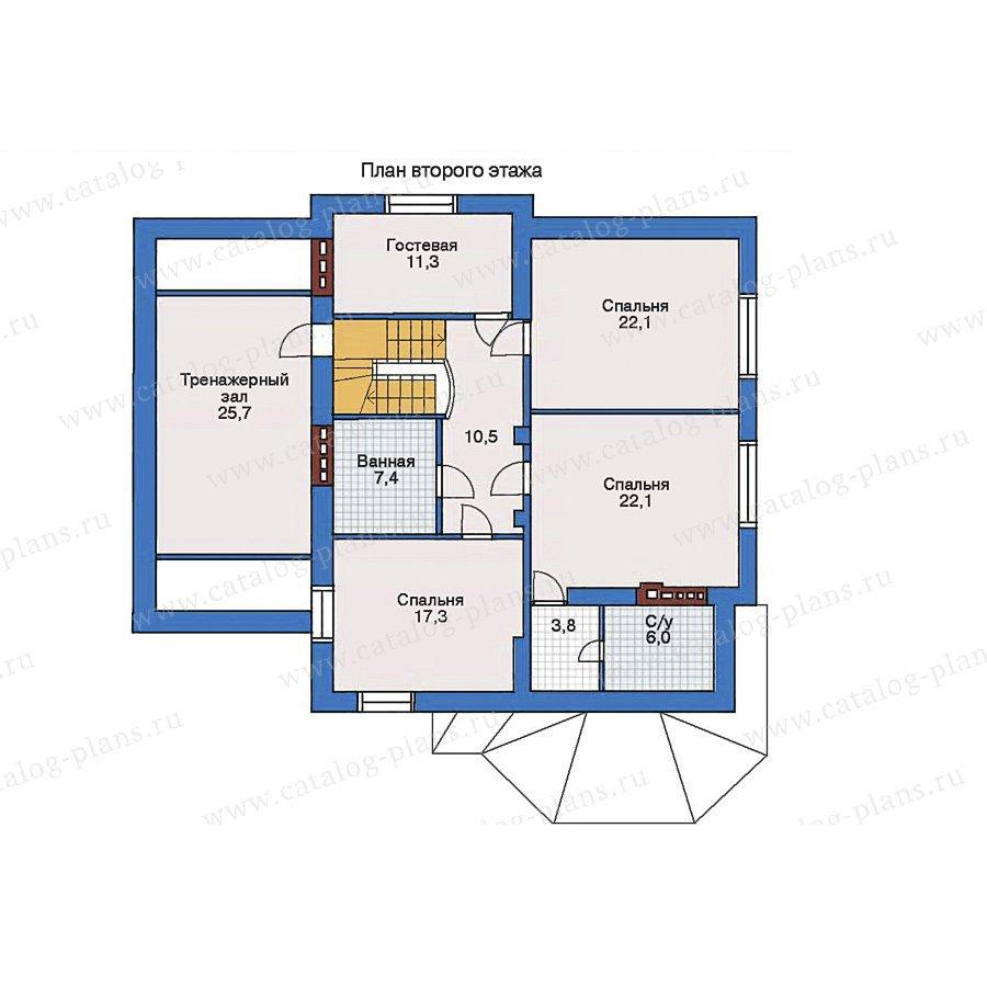 План 2-этажа проекта 32-96