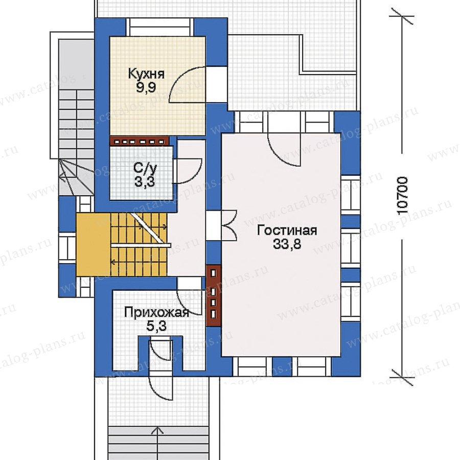 План 2-этажа проекта 32-54
