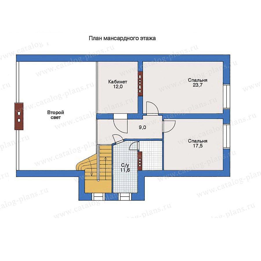 План 2-этажа проекта 32-51