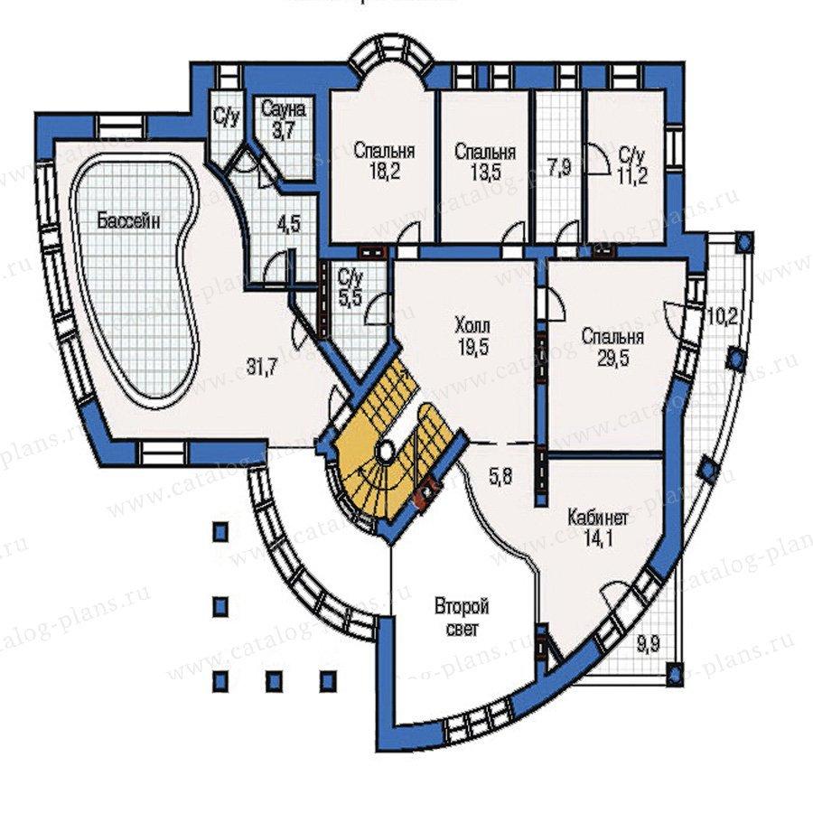План 2-этажа проекта 32-71