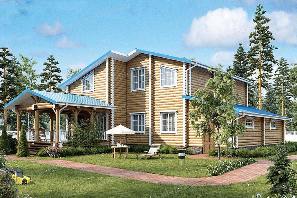 Проект жилой дом #12-52 материал - дерево, стиль европейский