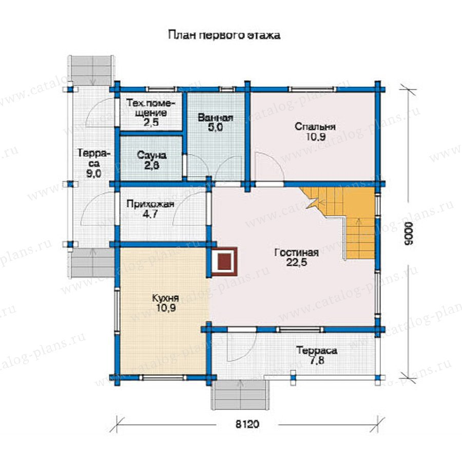 План 1-этажа проекта 12-11