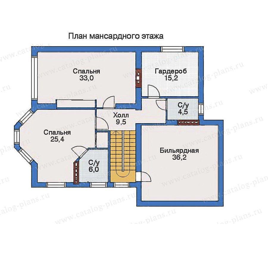 План 3-этажа проекта 32-82