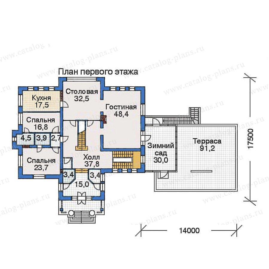 План 2-этажа проекта 32-46