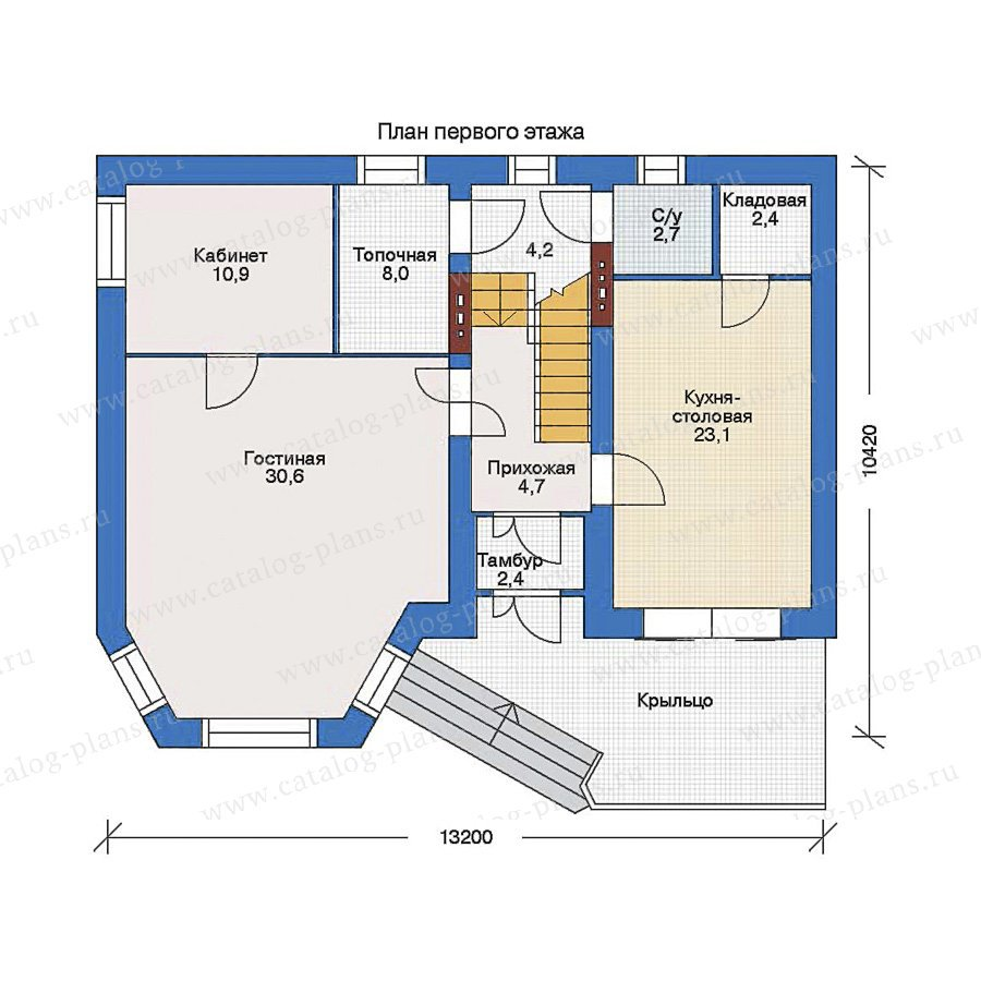План 1-этажа проекта 32-97