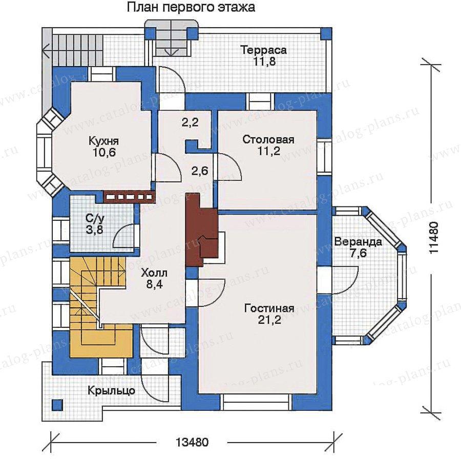 План 2-этажа проекта 32-70