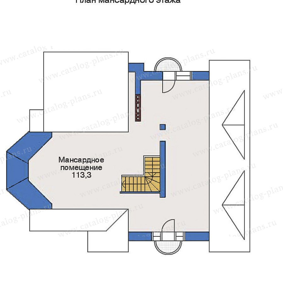 План 3-этажа проекта 32-91