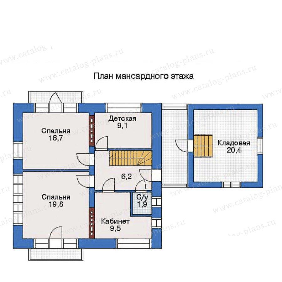 План 3-этажа проекта 32-95