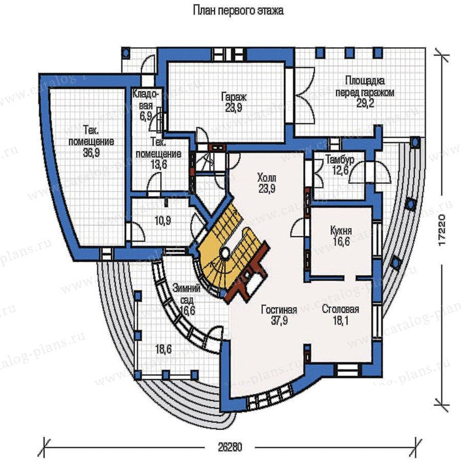 План 1-этажа проекта 32-71