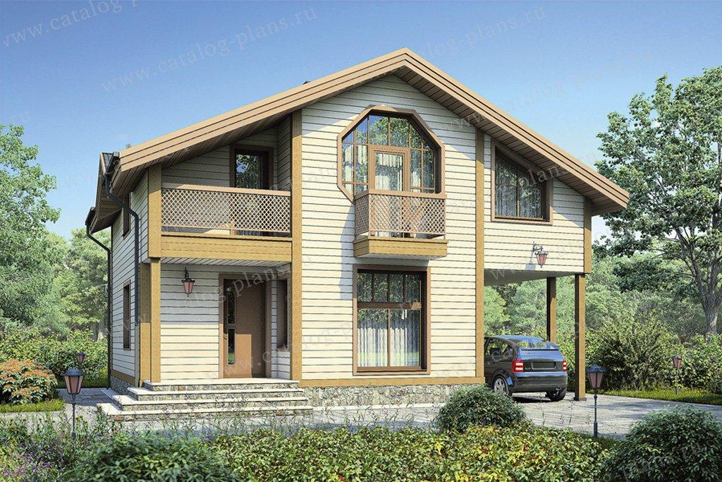 Проект жилой дом #12-29 материал - дерево, стиль европейский