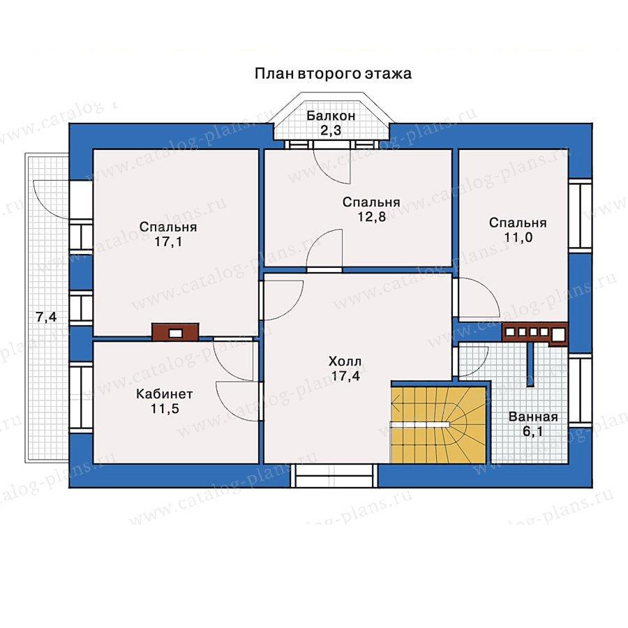 План 2-этажа проекта 32-68