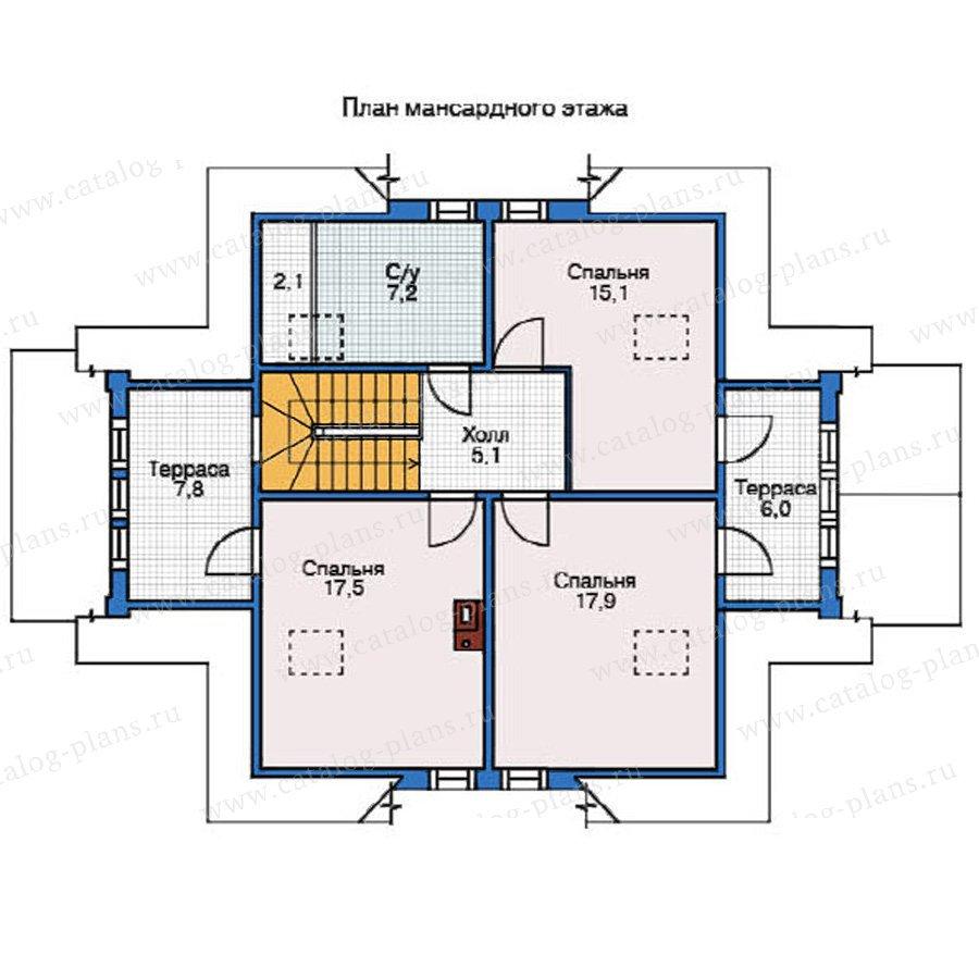 План 2-этажа проекта 12-16