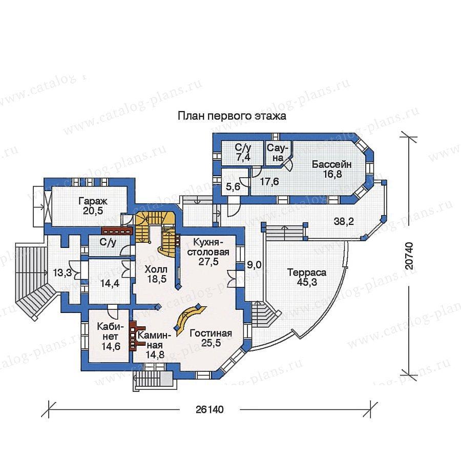 План 2-этажа проекта 32-77
