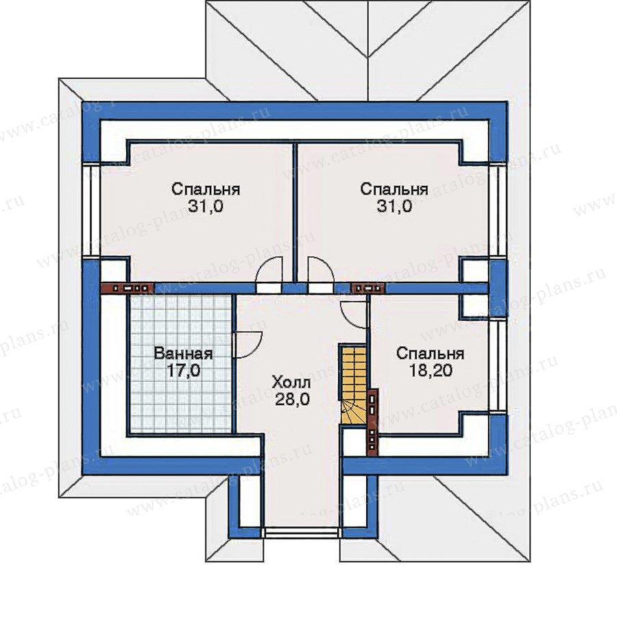 План 3-этажа проекта 32-55