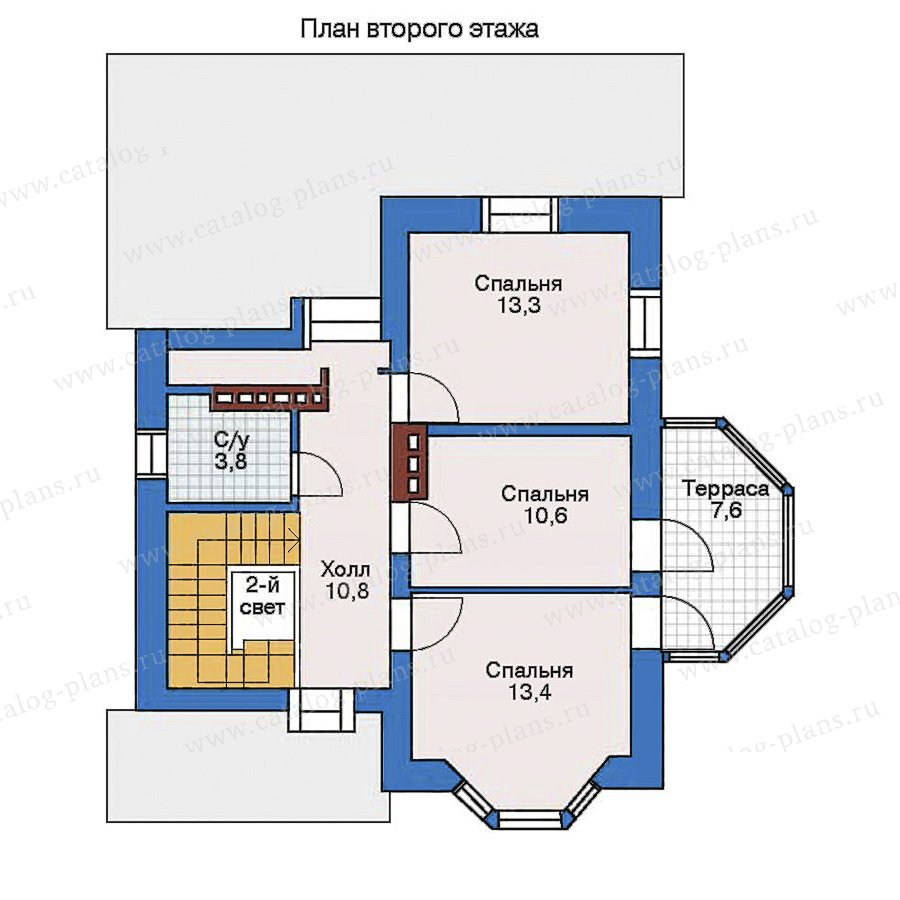 План 3-этажа проекта 32-70