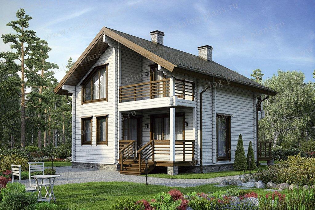 Проект жилой дом #12-38 материал - дерево, стиль современный