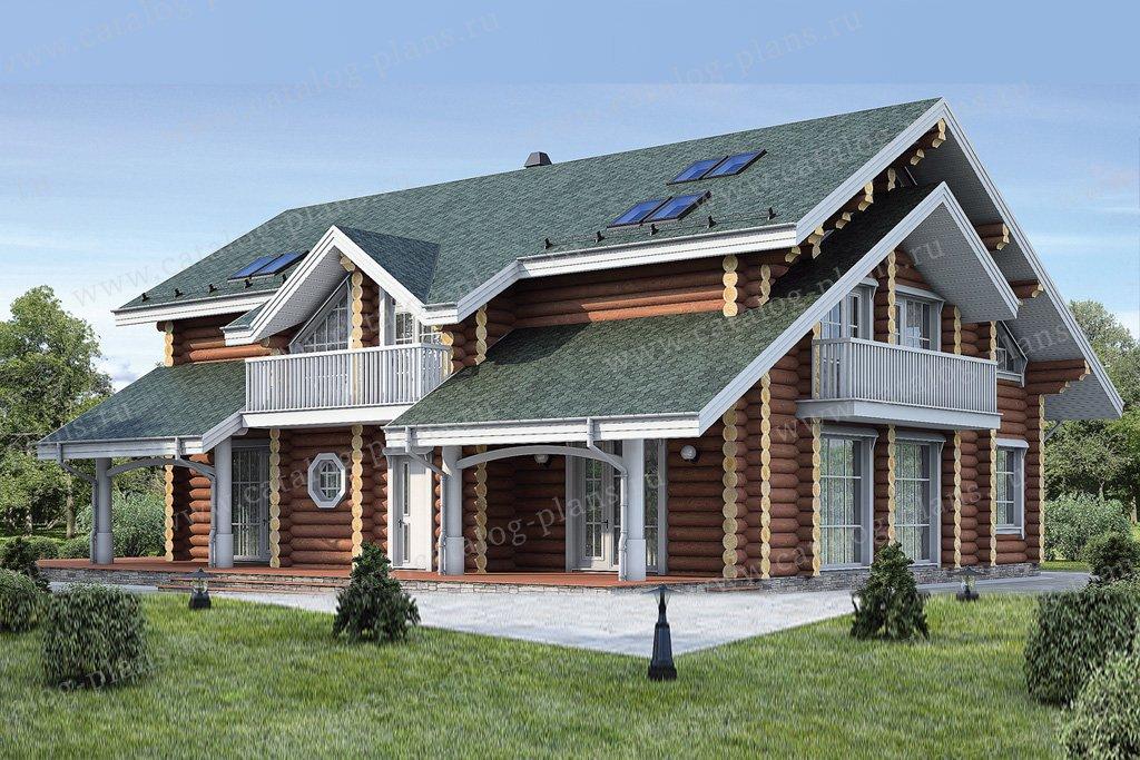 Проект жилой дом #12-02 материал - дерево, стиль скандинавский