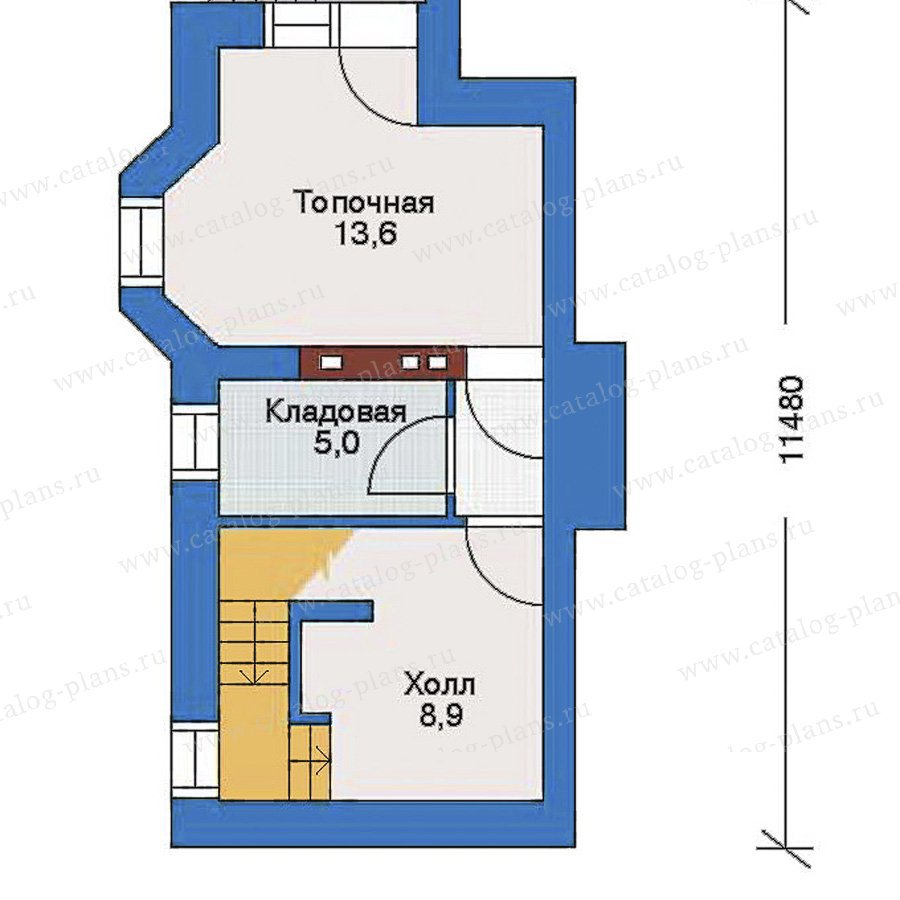 План 1-этажа проекта 32-70