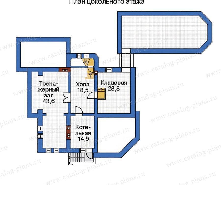 План 1-этажа проекта 32-77