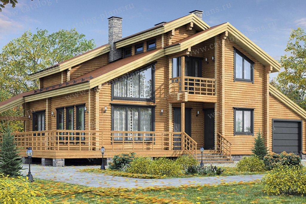 Проект жилой дом #12-03 материал - дерево, стиль скандинавский