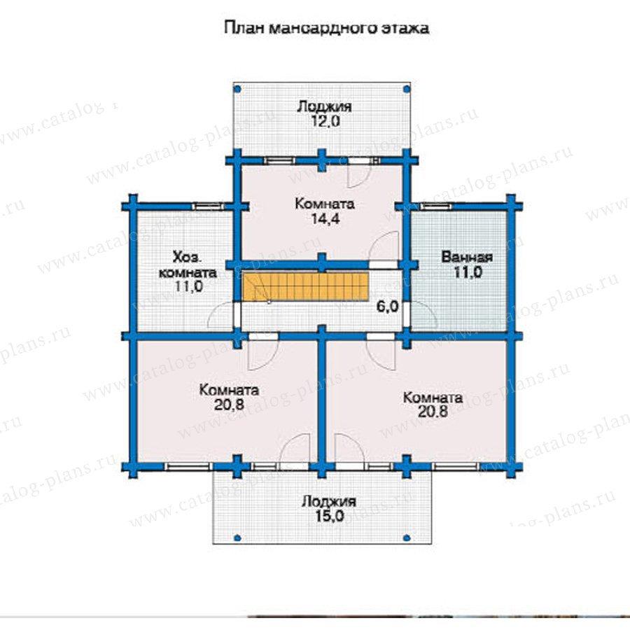План 2-этажа проекта 12-18