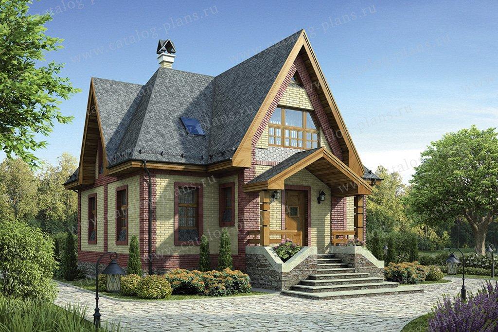 Проект жилой дом #12-16 материал - дерево, стиль английский