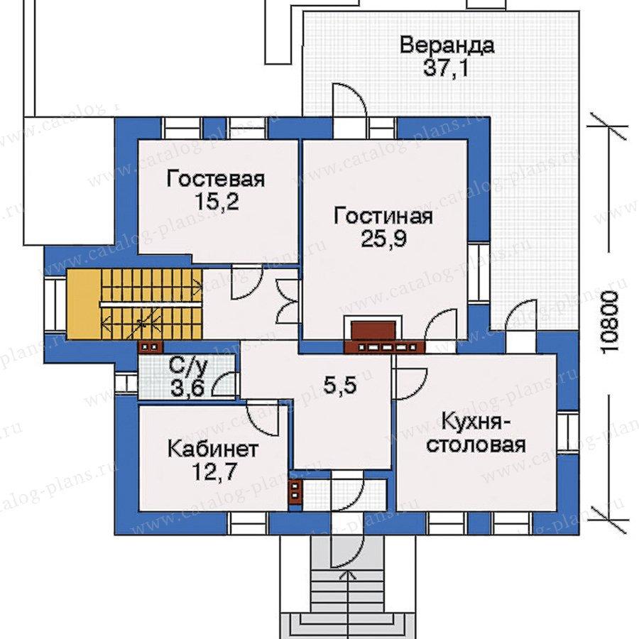 План 2-этажа проекта 32-90