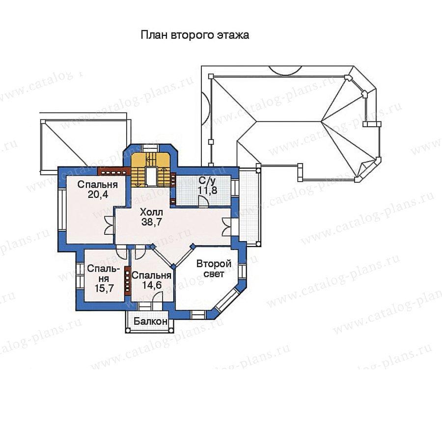План 3-этажа проекта 32-77